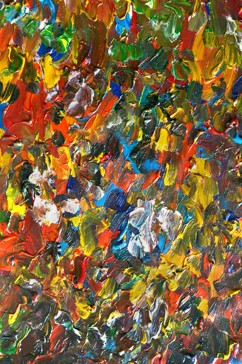Abstract background with oil paint smears フォト