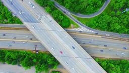 DRONE - Traffic Roads Footage