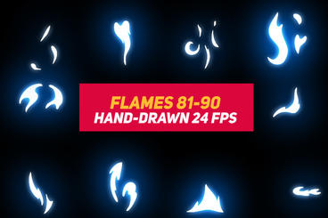 Liquid Elements 2 Flames 81-90 After Effects Template