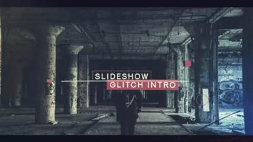 Slideshow Glitch Intro After Effects Template