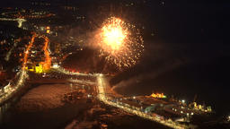 Fireworks celebration Victory Day in Great Patriotic War May 9 Footage