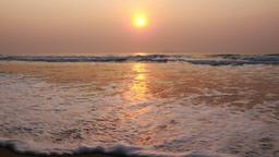 Sunrise at tropical beach Footage