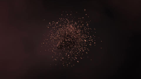 Exploding roasted coffee beans in 4K GIF