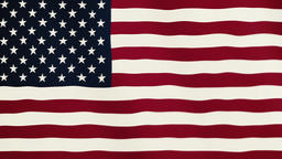 United States of America flag waving animation. Full Screen. Symbol of the Footage