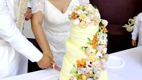 Shot of Wedding cake and decoration ビデオ