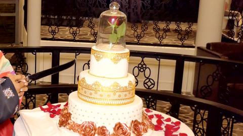 Shot of Wedding cake and decoration GIF