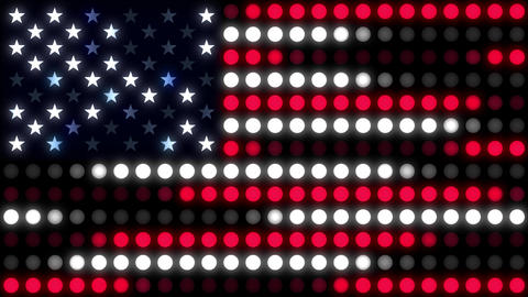 Abstract Flag of the USA Animation