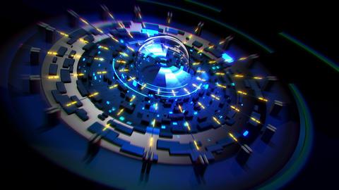 Cosmic Collider 4K 03 Vj Loop Animation