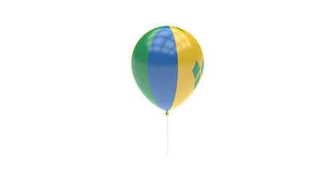 Saint-Vincent-and-the-Grenadines Balloon Rotating Flag Animation - Alpha Channel Animation