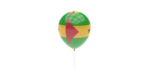 Sao-Tome-and-Principe Balloon Rotating Flag Animation - Alpha Channel - Transpar Animation