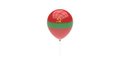 Transnistria Balloon Rotating Flag Animation - Alpha Channel - Transparent Animation