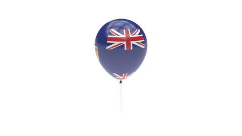 Turks-and-Caicos-Islands Balloon Rotating Flag Animation - Alpha Channel - Trans Animation