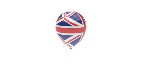 United-Kingdom Balloon Rotating Flag Animation - Alpha Channel - Transparent Animation