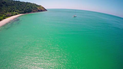 Flying over beach on Ko Lanta island, Thailand 영상물