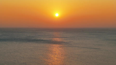 beauty landscape with sunset over sea ภาพวิดีโอ