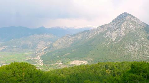 majestic Mountain view of fethiye, turkey Footage