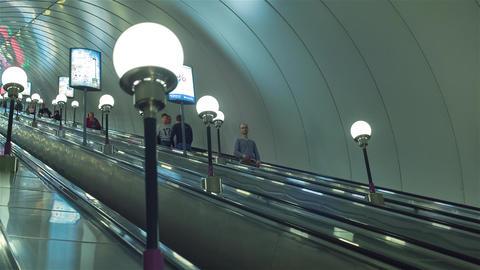 Escalator In The Underground Station Footage