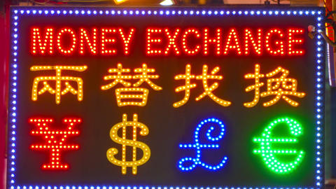 Currency exchange Footage