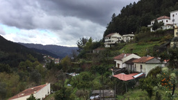 Time lapse of bad weather in Geres Portugal Footage