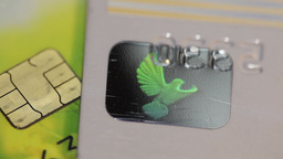 credit card with Burning Phoenix Footage
