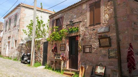 traditional turkish houses, travel destination, cunda, ayvalik, turkey Live Action
