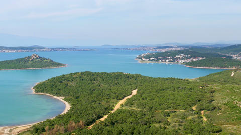 landscape view of Devil's table, seytan sofrasi, ayvalik, turkey Footage