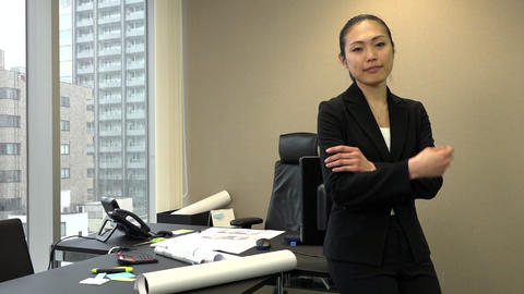 Japanese Businesswoman Female Manager Smiling At Camera…, Live Action