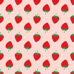 Strawberry on pink background. Seamless Pattern ベクター