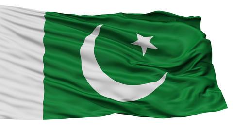 Isolated Pakistan city flag, Pakistan Animation