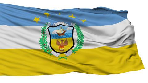 Isolated Provincia Colon city flag, Panama Animation