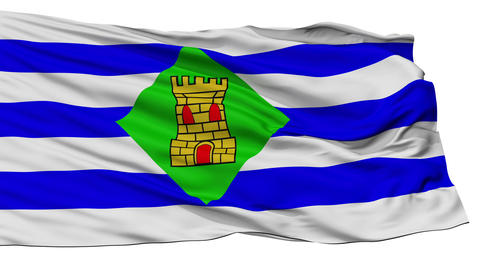 Isolated Vieques city flag, Puerto Rico Animation