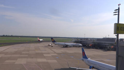 Wide shot of an airpot aerodrome Live Action