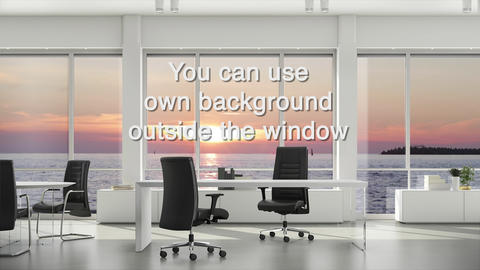 Window in business office with view outside for using any background. Background Footage