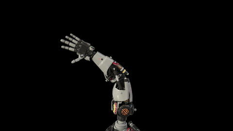 Bionic Arm showing its functionality CG動画素材