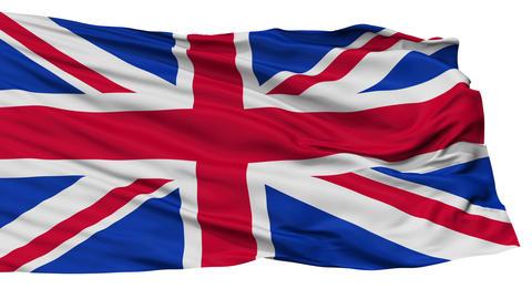 Isolated United Kingdom city flag, UK Animation