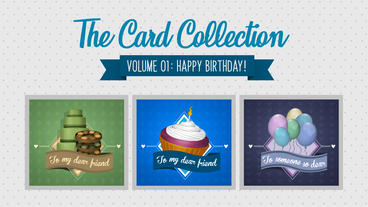 The Card Collection: Happy Birthday V.1 After Effects Template