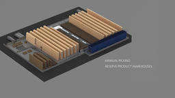 Warehouse interior 3d loopable animation Footage