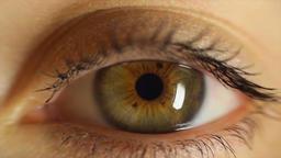 human man eye looking at camera, close up ビデオ