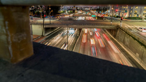 Freeway Traffic Time-lapse Live Action