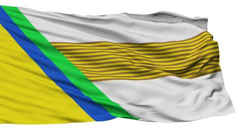 Isolated Jesus Maria city flag, Colombia Animation
