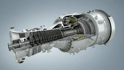 Model of gas turbine engine planes in the section Footage