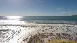 4k sparkling ocean sea water waves surface Footage