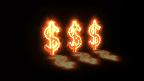 Animation of dollar signs depicting the notion of profit Footage