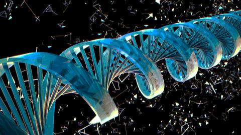 Background with rotating abstract DNA. 3D rendering Photo