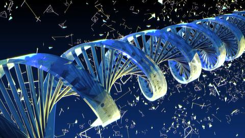 Background with rotating abstract DNA. 3D rendering Fotografía