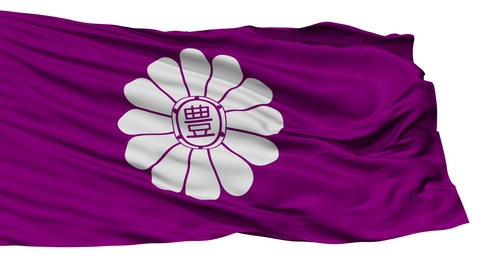 Isolated Toshima city flag, prefecture Tokyo, Japan Animation