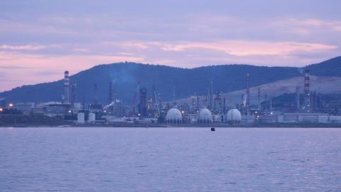 aliaga oil refinery, petrochemical petrol plant, izmir, turkey Footage