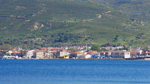 seaside summer travel destination, yeni foca, turkey Live Action