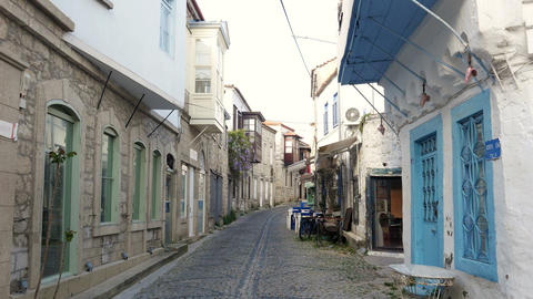 traditional turkish houses, travel destination, alacati, cesme, turkey Live Action