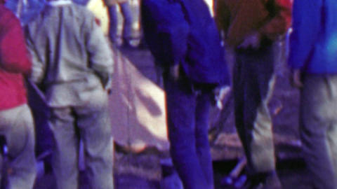 1967: Mourning after clean up last day goodbyes 12th World Scout Jamboree Footage